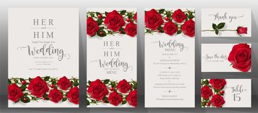 Wedding Invitation Card Templates . Royalty Free Stock Image
