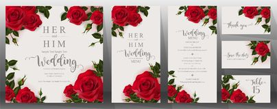 Wedding Invitation Card Templates . Stock Images