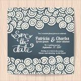 Wedding invitation card templates japanese style. Vector illustration Stock Photos