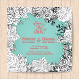 Wedding invitation card templates sweet theme Stock Photos