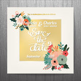 Wedding invitation card templates Royalty Free Stock Images