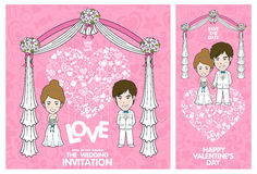 Wedding Invitation Card. Valentine Card. Vector and illustration Stock Photography