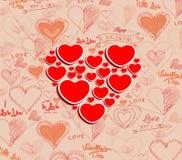 Wedding invitation, card for Valentine's Day Stock Photo