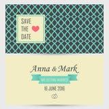 Wedding invitation card. Vector illustration Royalty Free Stock Image