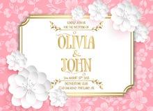 Wedding invitation card. Vector invitation card Stock Photos