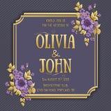 Wedding invitation card. Vector invitation card vector illustration