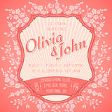Wedding invitation card. Vector invitation card Stock Photo