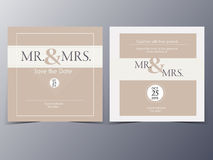 Wedding invitation card vector template Stock Photos