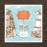 Wedding invitation card Stock Photos