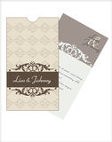 Wedding invitation cards. Wedding invitation card with envelope Stock Image