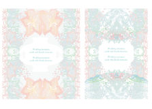 Wedding invitation cards Stock Image