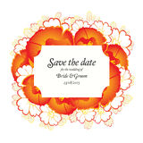 Wedding invitation cards with floral elements Royalty Free Stock Image
