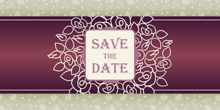Wedding invitation cards with floral elements. Royalty Free Stock Photos