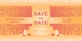 Wedding invitation cards Stock Photos