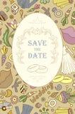 Wedding invitation cards Stock Image