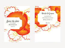 Wedding invitation cards with floral elements Royalty Free Stock Photo