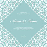 Wedding invitation cards with floral elements. Vector illustration Royalty Free Stock Photography