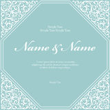 Wedding invitation cards with floral elements. Vector illustration Royalty Free Stock Image