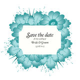 Wedding invitation cards with flowers Royalty Free Stock Photography