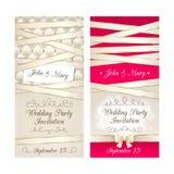 Wedding invitation cards set Stock Image