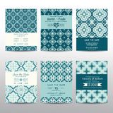 Wedding Invitation Cards Set. Save the Date - Wedding Invitation Cards Set - Vintage Style - in vector Stock Photography