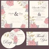 Wedding invitation cards set Royalty Free Stock Photo