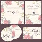 Wedding invitation cards set Royalty Free Stock Photo