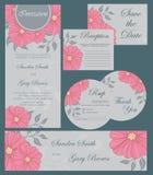 Wedding invitation cards set Royalty Free Stock Photos