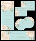 Wedding invitation cards set Royalty Free Stock Image