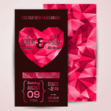 Wedding invitation cards template with abstract Stock Image