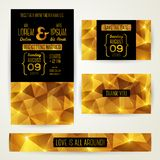 Wedding invitation cards template with abstract Royalty Free Stock Photography