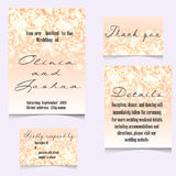 Wedding Invitation Cards Template Set with Soft Lights and. Vector illustration Royalty Free Stock Image