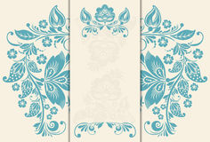 Wedding invitation cards. Vector Wedding invitation cards with floral elements Royalty Free Stock Photos