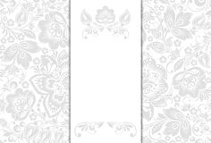 Wedding invitation cards. Vector Wedding invitation cards with floral elements Royalty Free Stock Photography