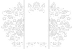 Wedding invitation cards. Vector Wedding invitation cards with floral elements Stock Images