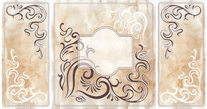 Wedding invitation cards. With vintage floral elements. EPS 10 Stock Illustration