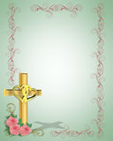 Wedding Invitation Christian Cross Stock Photos