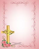 Wedding Invitation Christian Cross Stock Images
