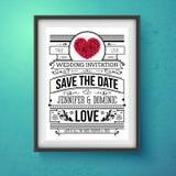Wedding Invitation Concept Design on Frame Royalty Free Stock Photography