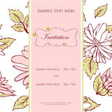Wedding invitation concept retro romance Stock Images
