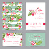 Wedding Invitation or Congratulation Card Set Stock Photo