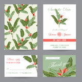 Wedding Invitation. Congratulation Card Set. Save the Date royalty free illustration