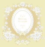 Wedding invitation or congratulation  in gold Royalty Free Stock Images
