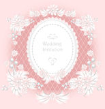 Wedding invitation or congratulation with pearls f Royalty Free Stock Photography