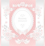 Wedding invitation or congratulation with pearls f Royalty Free Stock Photos