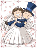 Wedding Invitation Couple stock illustration