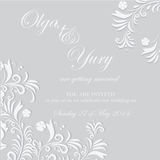 Wedding invitation Stock Images
