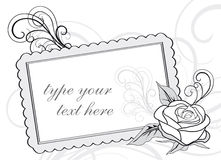 Wedding invitation design with copy-space Royalty Free Stock Image