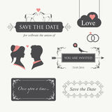 Wedding invitation design element  Royalty Free Stock Images