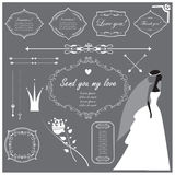 Wedding invitation design elements collection Stock Photography